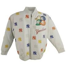 Mlb New York Yankees Leather Jacket Baseball LA752942, White - $371.25+