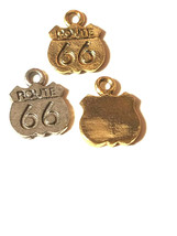 Route 66 Fine Pewter Pendant Charm image 1