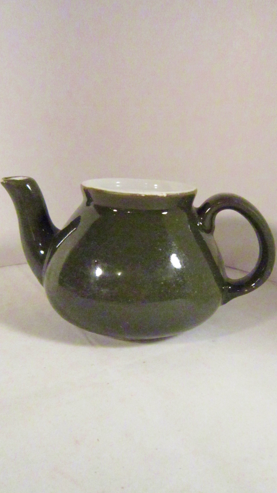 Hall China Teapot Vase Forest Green I'm a Little Tea Pot Short & Stout