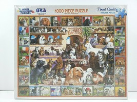 The World Of Dogs White Mountain 1000 Pc Puzzle Beagle Shepard Terrier P... - $29.69