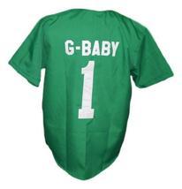 G-Baby #1 Kekambas Hard Ball Movie Baseball Jersey Button Down Green Any Size image 5