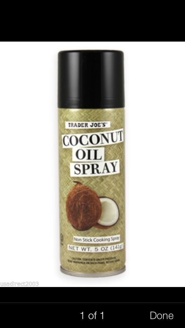 trader joe 39 s coconut oil spray oils. Black Bedroom Furniture Sets. Home Design Ideas