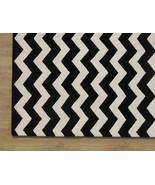 Hand Tufted Chevron Zig Zag Black 6' x 9' Conte... - $305.15