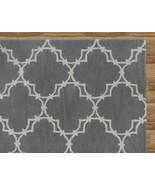 Hand Tufted Trellis Gray 8' x 10' Contemporary ... - $489.00