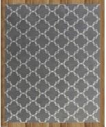 MODERN TRELLIS GRAY 8' x 10' CONTEMPORARY STYLE... - $489.00