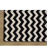 Hand Tufted Chevron Zig Zag Black 4' x 6' Conte... - $209.00