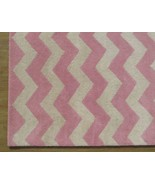 Hand Tufted Chevron Zig Zag Pink 4' x 6' Contem... - $209.00