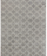 Trellis Scroll Gray 8' x 10' Contemporary Handm... - $489.00