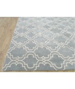 Trellis Scroll Tile Porcelain Blue 8' x 8' Hand... - $373.32