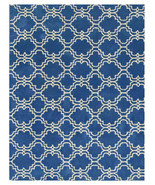 Moroccan Scroll Tile Rug Blue 5' x 8' Contempor... - $299.00