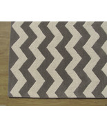 Chevron Zig Zag Gray 3' x 5' Handmade Persian S... - $135.15