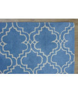 FRENCH ACCENT SCROLL TILE LIGHT BLUE 9X12 HANDM... - $729.00
