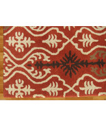 IKAT LINKS RUST 9' x 12' HANDMADE PERSIAN STYLE... - $729.00