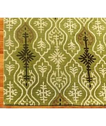 IKAT LINKS GREEN 8' x 10' HANDMADE PERSIAN STYLE 100% WOOL AREA RUG - $489.00