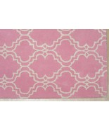 FRENCH ACCENT SCROLL TILE PINK 8' x 10' HANDMAD... - $489.00