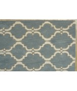 FRENCH  ACCENT SCROLL TILE GRAY 8'x10' HANDMADE... - $489.00