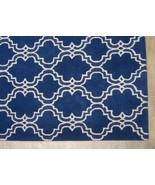 FRENCH ACCENT SCROLL TILE BLUE 8' x 10' HANDMAD... - $489.00