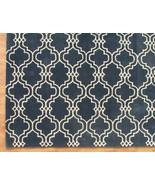 Moroccan Scroll Tile Carbon Blue 8' x 10' Handm... - $489.00