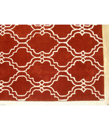 FRENCH ACCENT SCROLL TILE RUST 8' x 10' HANDMAD... - $489.00
