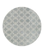 Modern Scroll Tile Porcelain Blue 8' x 8' Round... - $489.00