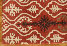 Ikat Links Rust 8' X 10' Handmade Persian Style 100% Wool Area Rug - $489.00