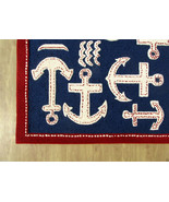 Brand New Kids Anchor Rug Blue 5' x 8' Handmade... - $299.00