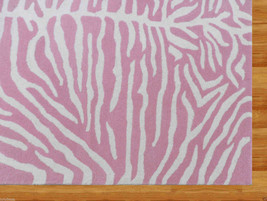 Kids Zebra Pink 5 X8 Handmade Persian Style Woolen Area Rug - $299.00