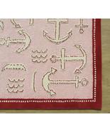 Brand New Kids Anchor Rug Pink 5' x 8' Handmade... - $299.00
