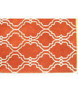 FRENCH ACCENT SCROLL TILE ORANGE 5' x 8' HANDMA... - $299.00