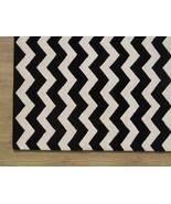 Chevron Zig Zag Black 5' x 8' Handmade Persian ... - $299.00