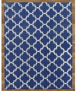 MODERN TRELLIS BLUE 4' x 6' CONTEMPORARY STYLE ... - $209.00