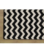 Chevron Zig Zag Black 4' x 6' Handmade Persian ... - $209.00