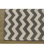 Chevron Zig Zag Gray 4' x 6' Handmade Persian S... - $209.00