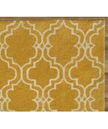 SCROLL TILE LEMON YELLOW 4' x 6' HANDMADE  PERS... - $209.00