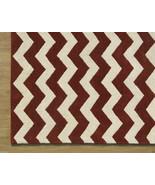 Chevron ZigZag Rust 3' x 5' Handmade Persian St... - $135.15