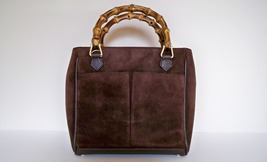 Authentic GUCCI Mini Suede Hand Bag with Bamboo Handles - Brown - $149.00