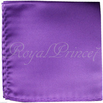 New Men's Lavender Micro Fiber Solid Handkerchief Pocket Square Hanky We... - $4.78