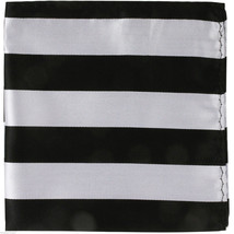 NEW Men's Two Tones Causal Stripes Handkerchief Pocket Square hankie For... - $4.84
