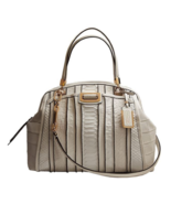 NWT $898 COACH Madison Domed Exotic Stripe Leat... - $685.00