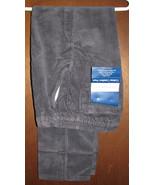Towncraft Comfort Fit Back Elastic Waist Charcoal Gray Corduroy Pants 32x34 - $28.99