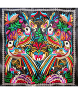 Embroidery Fabric Natural HMONG Yi nationality Pattern Hill Tribe textil... - $20.00