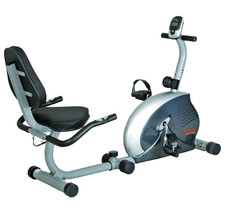 RECUMBENT EXERCISE BIKE, CARDIOVASCULAR MAGNETIC RECUMBENT FITNESS - $199.00