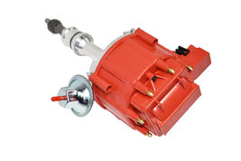 SBF Ford Small Block 260 289 302 HEI Ignition Red Cap Distributor w/ 65K Coil image 3