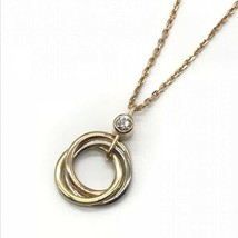 Cartier CRB7223500 Trinity necklace 1P diamond pink gold RT13296 - $1,707.26