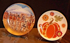The Corn Dance and Pumpkin Commemorative Plates (Two) AA20-CP2276 Vintage