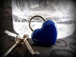 Blue Heart Lock,  heart  lock, working lock, lo... - $15.00