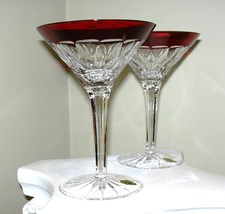 Waterford Simply Red Martini Pair   - $189.95