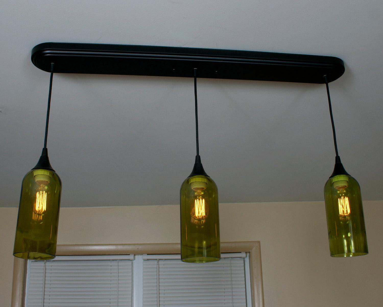 ... Wine Bottle 3 Pendant Light - Chandeliers & Ceiling Fixtures