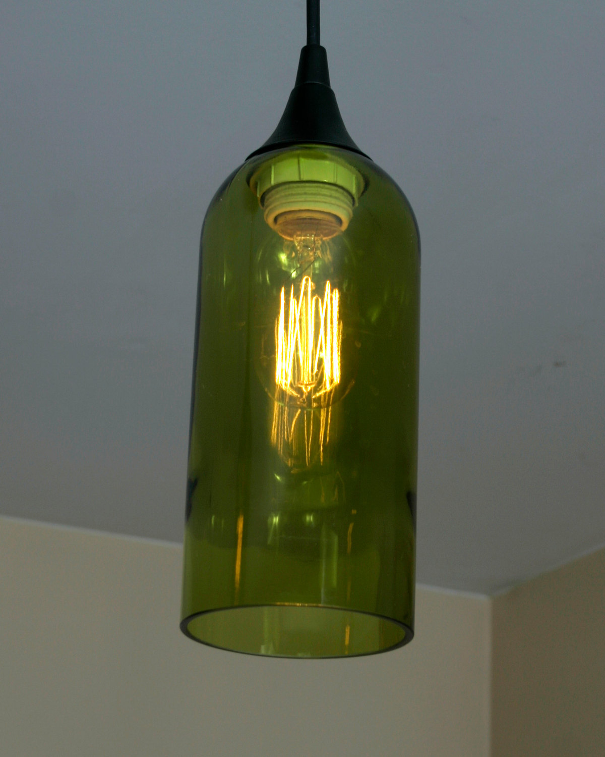 Chardonnay wine bottle 3 pendant light chandeliers ceiling fixtures - Wine bottle pendant light ...