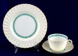 Minton Lady Rodney Trio Cup Saucer Salad Plate Cream China - $20.00